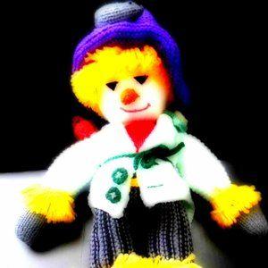 EUC Handmade Crochet knit SCARECROW Plush Doll